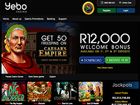 Yebo Casino - Play in Rands